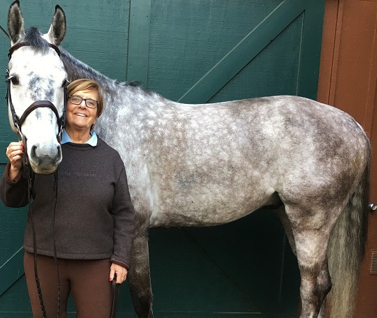 Konny Murray with her horse, Bubbles
