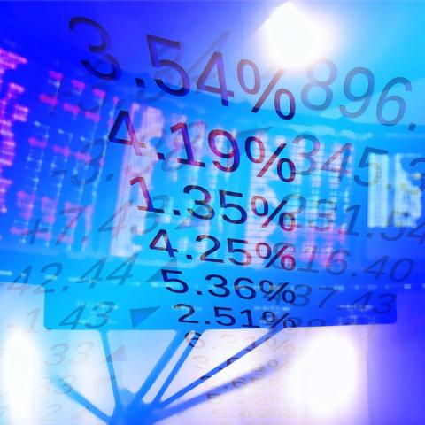 Abstract image of the stock market